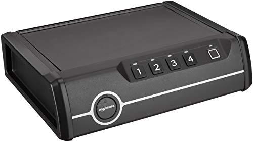 AmazonBasics - Deluxe-Tresor mit Schnellzugriff, für 1 Schusswaffe, mit biometrischem Fingerabdruck-Sensor
