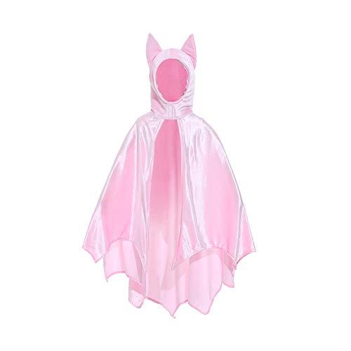 CFByxr Halloween Kostüme - Kind Mädchen Junge Nettes Schwarzes Rosa Kapuzenmantel Bat Flügel Für Cosplay Party Maskerade Kleidung (m-l)