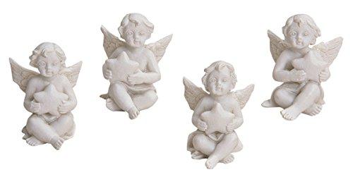 24er Set Engel mit Stern Figuren 2 x 3 x 3 cm Angel Fgur Taufe Gastgeschenk (Taufe Figur Engel)