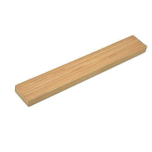 TOOGOO Magnetische Messer Halter 40 cm Wand Halterung Bambus Holz Magnet Streifen Für Metall Messer Rack Utensil Einfache Lagerung Küche Werkzeug Utensil Wand Rack