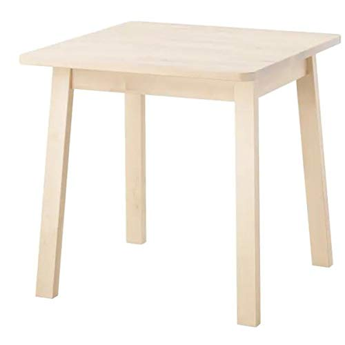 Ikea NORRAKER Tisch aus massiver Birke; (74x74cm)