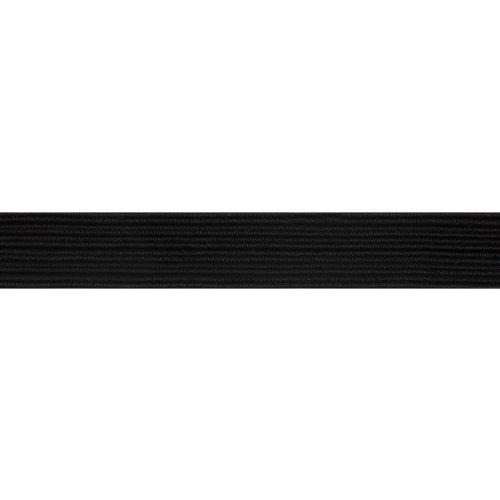 100 m de corde élastique Noir tressé 16 13 mm de large