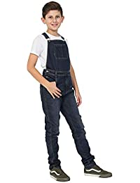 8abba6b02 Wash Clothing Company Boys Darkwash Denim Dungarees Age 4-14 Years Slim Fit  Overalls KID047DARK