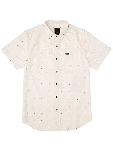 Herren Hemd kurz RVCA Va Dobby Hemd Antique White