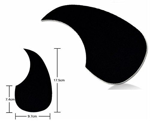 JXY Pickguard Akustik Gitarre Pick Pickup Guard Black Self Adhesive