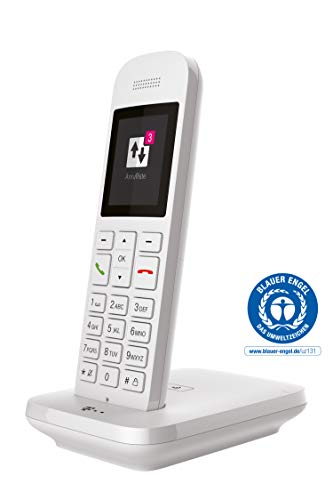 Telekom Sinus 12 in Weiß Festnetz Telefon schnurlos, 5 cm Farbdisplay, beleuchtete Tastatur   Anschlussunabhängige Nutzung an Allen handelsüblichen Routern und Standardanschlüssen