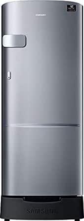 Samsung 192 L 4 Star Inverter Direct Cool Single Door Refrigerator(RR20T1Z2XS8/HL, Elegant Inox, Base Stand with Drawer)