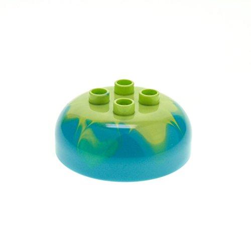 1 x Lego Duplo Rund Stein Azure hell blau hell grün marmoriert 4x4 Kuppel mit 2x2 Noppen für Set Eis Kuchen Schloss 10515 10817 10574 98220pb03
