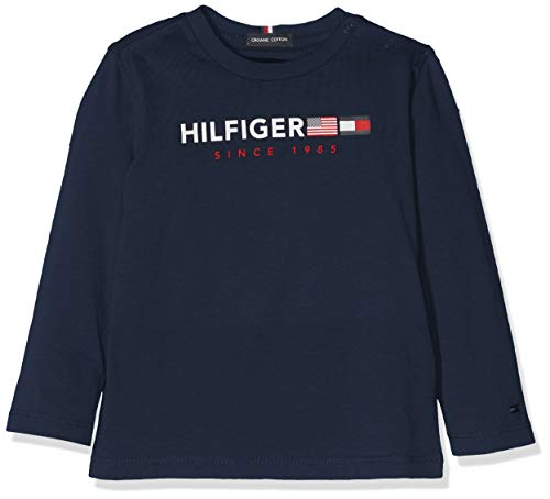 Tommy Hilfiger Flags Graphic tee LS Camiseta para Bebés