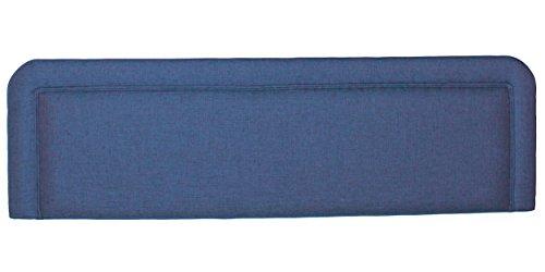 Sweet Dreams Aberdeen Standard Headboard, 135 x 42 cm, Sumatra Plain Blue