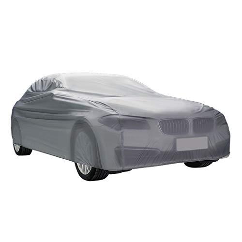 LYZP Auto Abdeckung, Wasserdicht Atmungsaktiv Regen UV Sun Allwetter Schutz Mit Reißverschluss Spiegeltasche Für Automobil Indoor Outdoor Fit Limousine (größe : L)