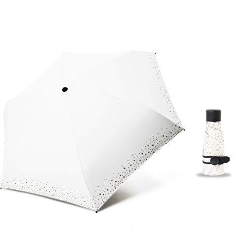 SHILILI 256G Kleine Mode Taschenschirm Regen Frauen Männer Mini Tasche Sonnenschirm Mädchen Anti-Uv wasserdichte Tragbare Reiseschirme