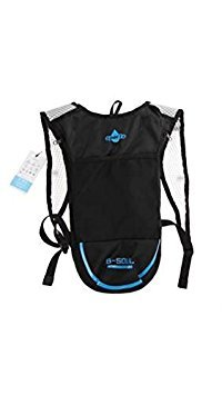Tradico® Hydration Pack Backpack For Camping/Hiking/Cycling(Black+Blue)