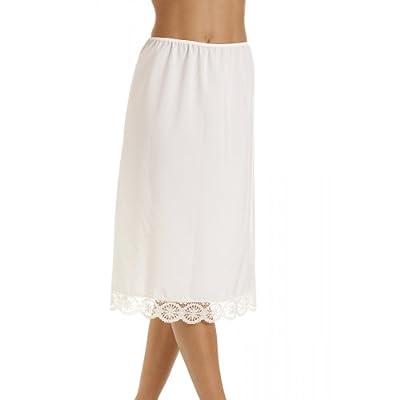Camille Womens Ladies Underwear ivory Lace Hemline 26'' Half Slip Petticoat Underslip 10-24
