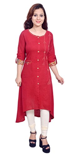 Yash Gallery Elegance Women's Tail Cut Kurta With Pocket