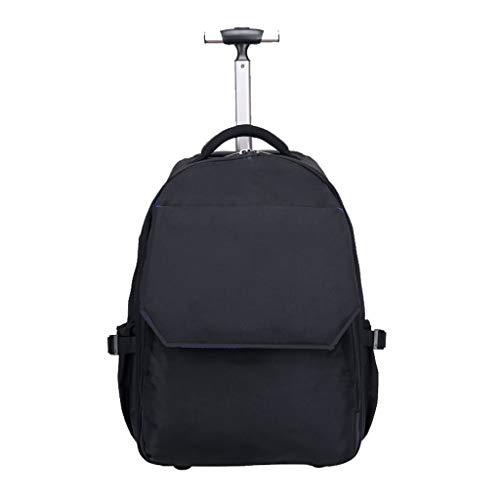 Zmsdt Rollen-Rucksack-Gepäck-Rad-Laufkatze, Laufkatzen-Gepäck-Koffer-kompakte Geschäfts-Taschen-Hochschullaptop-Tasche gepaßter 15,6 Zoll-Laptop (19 Zoll (21 Zoll) (Color : Black, Size : 21inch)