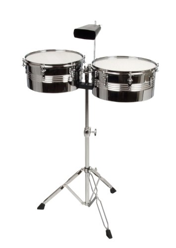 XDrum Timbales Set 33-35,6 cm (13-14 Zoll) Inkl. Cowbell