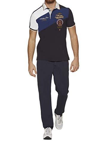 Aeronautica militare polo uomo po1344 blu navy, 3xl, t shirt, maglia, pantalone