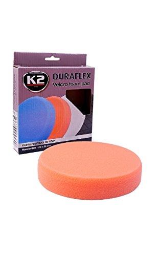 150mm Schwamm K2 DURAFLEX Mechanisch Polieren Klettvverschluss Orange Polierpad
