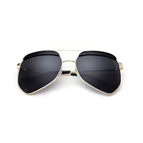 ZLHL Mens Womens polarisierte Sonnenbrille, Wrap Around Metalllegierung Großen Rahmen Rahmen, Radfahren Angeln Golf Running Fahren & Alle Sport & Outdoor, Zubehör gehören Hard Case