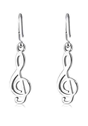 Elli Damen Schmuck Ohrringe Ohrhänger Notenschlüssel Musik Melodie Note Musiker Silber 925 (Elle Schmuck Ohrringe)