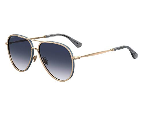 Jimmy Choo TRINY/S LKS Gold / Blue TRINY/S Pilot Sunglasses Lens Category 2 Size 59mm