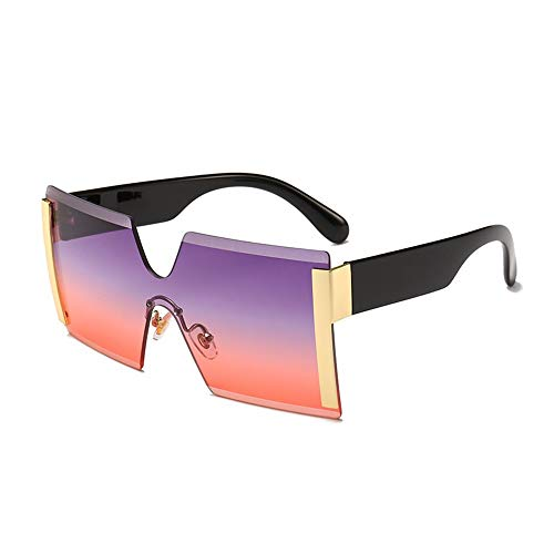 74d71a830a Lunettes de soleil à monture sans monture, lunettes de soleil mode  mono-pièce,
