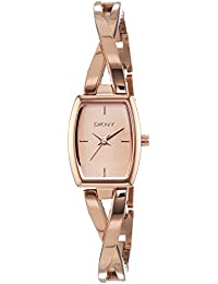 DKNY  NY2314 - Reloj de cuarzo con correa de acero inoxidable para mujer, color rosa