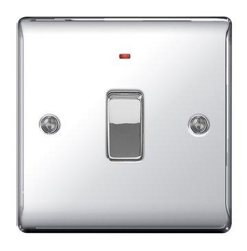 BG Chrome Dp Switch Neon 20a - NPC31-01 - 20a Toggle