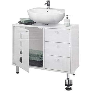 ET Waschbecken Unterschrank Badezimmerschrank Badschrank