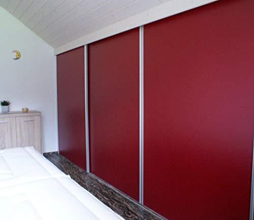 Schiebetüren Bausatz | für 3 Türen | inklusive Schienen-Griffe-Kantenprofile