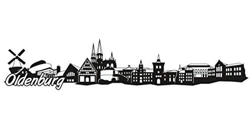 Samunshi® Oldenburg Skyline Aufkleber Sticker Autoaufkleber City Gedruckt in 7 Größen (20x4,3cm schwarz)
