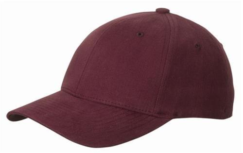 FLEXFIT Basecap 'Fullcap' in 2 Größen + 8 Farben Weinrot,S/M ( Small/Medium ) für 56/57 cm Kopfumfang Wine,S-M