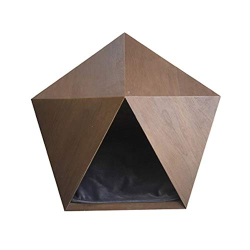 GYJ Katze Höhle Hund Schlafsack Nest Haus Holz Raumkapsel Katzen Massivholz Möbel Pet Teddy Kleine Zwinger Kreative Hohe Qualität