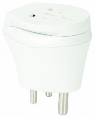 2 x Reiseadapter - Welt Kombi Reisestecker Stromadapter - Adapter für Norwegen auf Malediven für Steckdosen mit Schukostecker, Euro, 2 pol und 3 polige Strom Netz Stecker - NO-MV