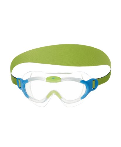Speedo Unisex - Kinder Schwimmbrille Junior Sea Squad, clear/bue, one size, 8-087638029 (Tauchen Speedo)