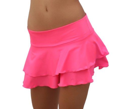 TANZ SALSA Sexy Strand 2 Stufen Minirock Pink