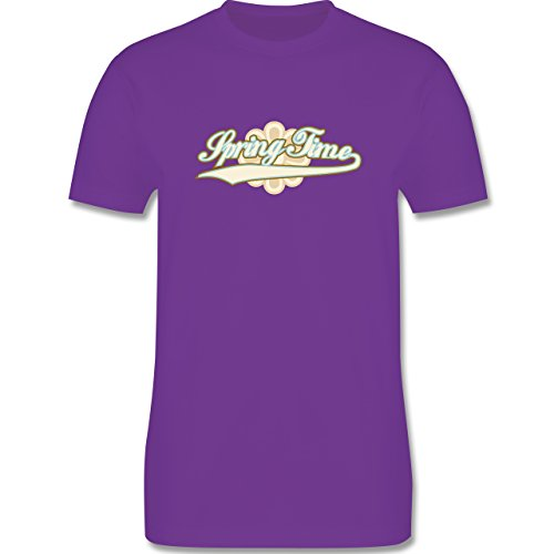 Urlaub - Spring Time - Herren Premium T-Shirt Lila