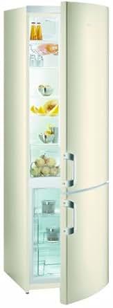 Gorenje RK 6202 BC Kühl-Gefrier-Kombination / A++ / 0.64 kWh / 278 Liter Kühlteil / 92 Liter Gefrierteil / Umluft-Kühlsystem / Quick Cooling Funktion / Eco Top Ten / creme