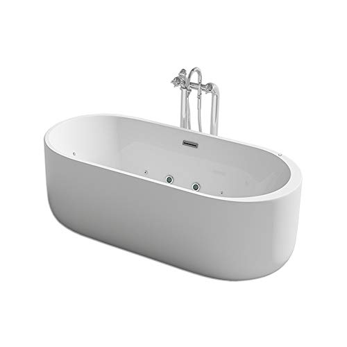 Home Deluxe - freistehende Design Badewanne - Bola Plus - inkl. Whirlpoolfunktion