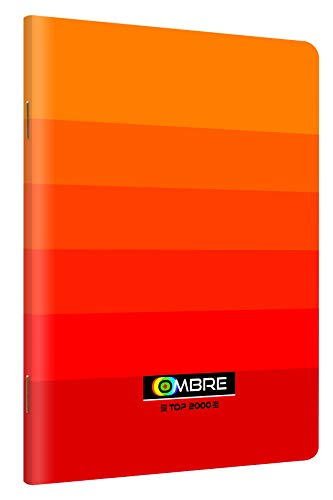 TOP-2000 400089360 A4-Heft 80 Blätter, Karo, 5 Stück-Packung, OMBRE Kollektion orange -