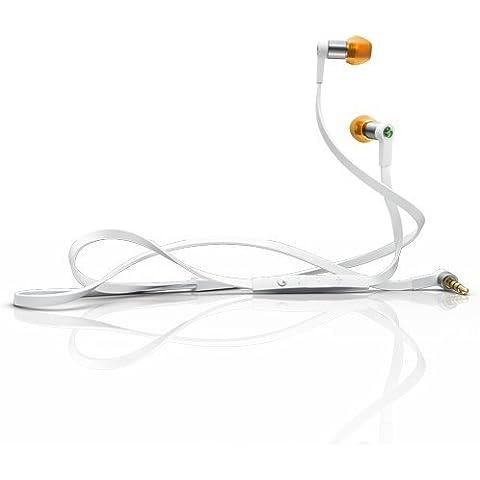Sony Ericsson LiveSound - Auriculares estéreo para móvil Sony Ericsson, color blanco y naranja
