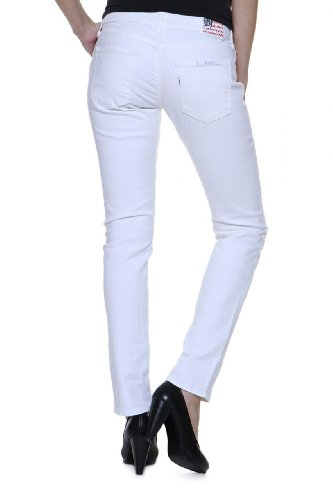 True Religion Damen Jeans Skinny Slim Leg Jeans BRIANNA PHANTOM Wash 09 OPTIC WHITE, Farbe: Weiss, Größe: 27