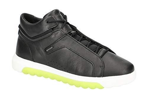 Geox Donna Alto NEXSIDE, Signora Sneaker,Scarpe Sportive,Scarpa Sportiva,Stivaletto da Ginnastica,Mid-Cut,Traspirante,Schwarz,38 EU / 5 UK