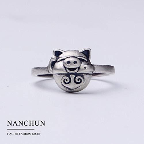 GFLD Ringe Frau Sterling Silber einfache Öffnung verstellbar Schmuck Ring niedlich Outdoor (Niedliche Ringe)