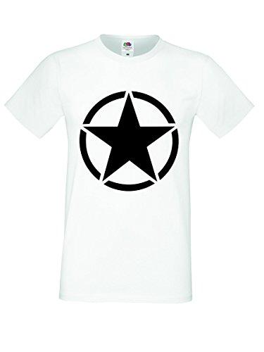 Shirt-Checker -  T-shirt - Uomo Bianco-nero