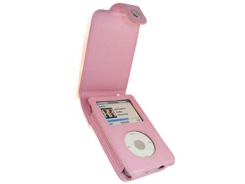 igadgitz PU Leder Tasche Schutzhülle Etui Case Hülle aufklappbar in Pink Rosa für Apple iPod Classic 80gb, 120gb und das neue 160gb (Ausgabe vom September 2009) + abnnehmbare Gürtelbefestigung + Display Schutzfolie -