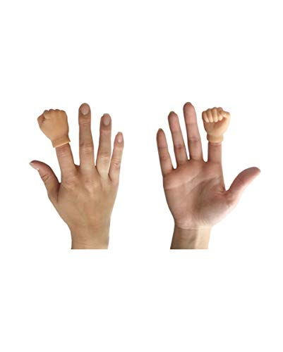 Horror-Shop Hautfarbene Hand-Fingerpuppe Faust