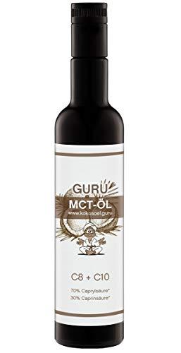 Guru MCT Öl - 100% rein & hochkonzentriert auf Kokosölbasis - C8 und C10 =100%
