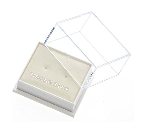 En argent Sterling 925 avec zircones cubiques 6 mm GoldStudEarrings Clous d'oreilles Boîte cadeau aqua